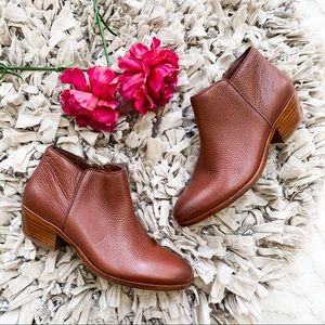 Sam Edelman Petty Booties in Saddle Leather Brown